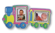 Silver Touch USA Sterling Silver Double Wall Decor Train Picture Frame