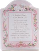 "Abbey Press ""Baptism Prayer"" Plaque, 20cm x 25cm , Pink"