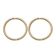 9ct Gold Sleepers Earrings 13mm