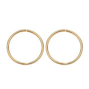 9ct Gold Sleepers Earrings 14mm