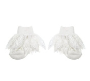 Baby Girls Cute Lacey Crochet Plain Frilly Socks - White