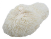 4Kidz Girls Long Faux Fur Open Back Mule Slipper