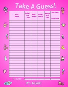 Bundle Boards It's A Girl Baby Shower Guessing Game and Keepsake, Medium
