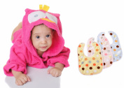 New Brand Baby Hooded Towel, Bath Robe and Beautifully Wrapped with a Free Gift of Three Bibs, 0-12 Month.