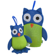 Rich Frog Wacky Wash Mitt and Bath Sponge Combo - Owl
