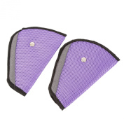 ilovebaby Car Child Safety Cover Harness Pad Comfortable Offers Protection Strap Adjuster Mash Pad Kids Seat Belt Seatbelt Clip Booster Adult Children Air Mesh Fabric Purple