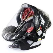 Rainbow Design Infant Carrier Car Seat Rain & Weather Plastic Shield Cover
