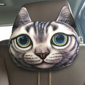 16 Kinds of Optional Creative Funny 3d Printed Lifelike Plush Cartoon Animals Car Headrest Head Pillow Protect Seat Neck Dog/cat/tiger/leopard
