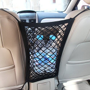 Mictuning Universal Car Seat Storage Mesh/Organiser - Mesh Cargo Net Hook Pouch Holder for Bag Luggage Pets Children Kids Disturb Stopper