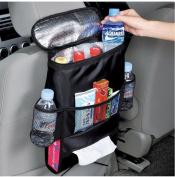 AKKR Car Seat Organiser/Auto Seat Back Multi-Pocket Travel Storage Bag/Insulated Drinks Holder Cooler Wrap Bottle Bag with Mesh Pockets Soft Storage Chest