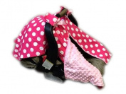BayB Brand Car Seat Canopy - Pink Polka Dot