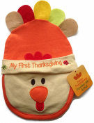 'My First Thanksgiving' Baby Feeder Bib and Hat Turkey Theme Gift Set