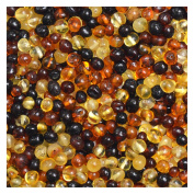 Baltic Amber Loose Beads 100 Pcs - Multicoloured - 100% Genuine Baltic Amber Guaranteed