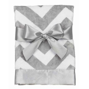 Chevron Snuggle Blanket Steel