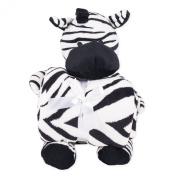 Snoozies Plush Animal with Matching Throw Blanket - Zebra