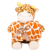 Snoozies Plush Animal with Matching Throw Blanket - Giraffe