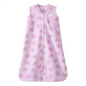 Halo Sleepsack Micro-fleece Wearable Blanket, Pink Swirly Flowers, Small