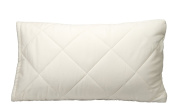 Organic Cotton Toddler Pillow Cover - Quilted Pillowcase Pillow Protector Hypoallergenic