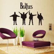 Fange DIY Removable the Beatles Art Mural Vinyl Waterproof Wall Stickers Bed Room Decor Livingroom Decal Home Sticker Wallpaper 90cm x 60cm