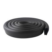 Ivenf Multi-functional U-Shape Edge & Corner Guards Cushion 2m / 6.56ft, Extra Dense Extra Protection for Baby, Black
