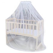 Sunward Baby Bed Mosquito Mesh Dome Curtain Net for Toddler Crib Cot Canopy