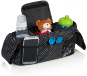 Baby Stroller Organiser | Deluxe Nappy Bag | Stroller Cup Holder | Adjustable to Fit All Full Size Strollers