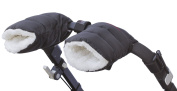 Schpinn & Co. Cosy Enfant Stroller Hand Muffs for Parents and Caregivers--black- Matte Colour These Stroller Gloves Will Keep Your Hands Toasty While Making It Easy to Tend Your Child's Needs