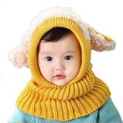 Coromose Winter Baby Kids Girls Boys Warm Woollen Coif Hood Scarf Caps Hats