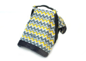 Itzy Ritzy Cosy Happens Infant Car Seat Canopy and Tummy Time Mat, Sunshine Chevron