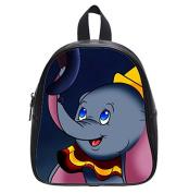 dumbo elephant nose Custom Black Kid's Backpack School Bag