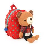 Gaorui 2013 New Baby Toddler Child Kid Cartoon Backpack Schoolbag Shoulder Bags _ Bear Red