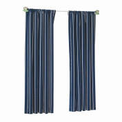 Sweet Dreams Cotton Twill Panel 210cm - Navy Stripe