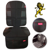 ROYAL OXFORD Luxury Car Seat Protector - Extreme Heavy Duty, Obsidian Black Leather - Bebe by Me International