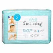 Well Beginnings Premium Nappies Jumbo, 2 42 ea