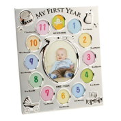 My First Year Silver Plated Baby Photo Frame By Haysom Interiors