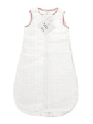 SwaddleDesigns zzZipMe Sack with 2-Way Zipper, Cotton Flannel Wearable Blanket, Classic Polka Dots in Pastel Pink 6-12 months