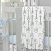 Carousel Designs White and Grey Arrow Crib Blanket