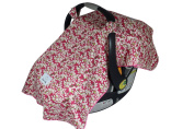 Shannon Baby Car Seat Cover Lined with Ultra Soft Minky Fleece