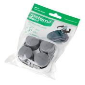 Sistema Castor Wheels Grey 4 Pack