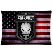 Custom Retro USA Flag Call of Duty Pattern 06 Pillowcase Cushion Cover Design Standard Size 20X30 Two Sides