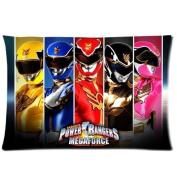 Custom Power Rangers Pattern 09 Pillowcase Cushion Cover Design Standard Size 20X30 Two Sides