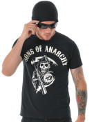 Sons of Anarchy Men's Main Logo Short Sleeve T-Shirt