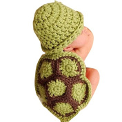 Tonsee® Baby Newborn Turtle Knit Crochet Clothes Beanie Hat Outfit Photo Props