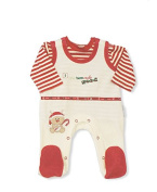 Baby Velour Christmas Reindeer With Candystick 'I Have Been Really Good' Cream 2 Piece Long Sleeved Outfit - So Cute!!