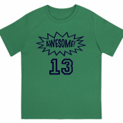 """Awesome at 33cm - Kids' Unisex Birthday T Shirt Gift"