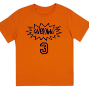 """Awesome at 7.6cm - Kids' Unisex Birthday T Shirt Gift"