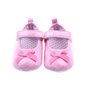 LEORX Cute Baby Girls Bowknot Decor PU Prewalkers Shoes with hook and loop Straps