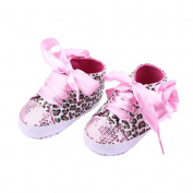 LEORX Pair of Cute Baby Girls Leopard Pattern Decor Prewalkers Shoes