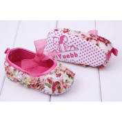 LEORX Pair of Cute Baby Girls Roses Bowknot Decor Prewalkers Shoes