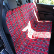 car rear seat or boot protector cover tartan water proof backing
